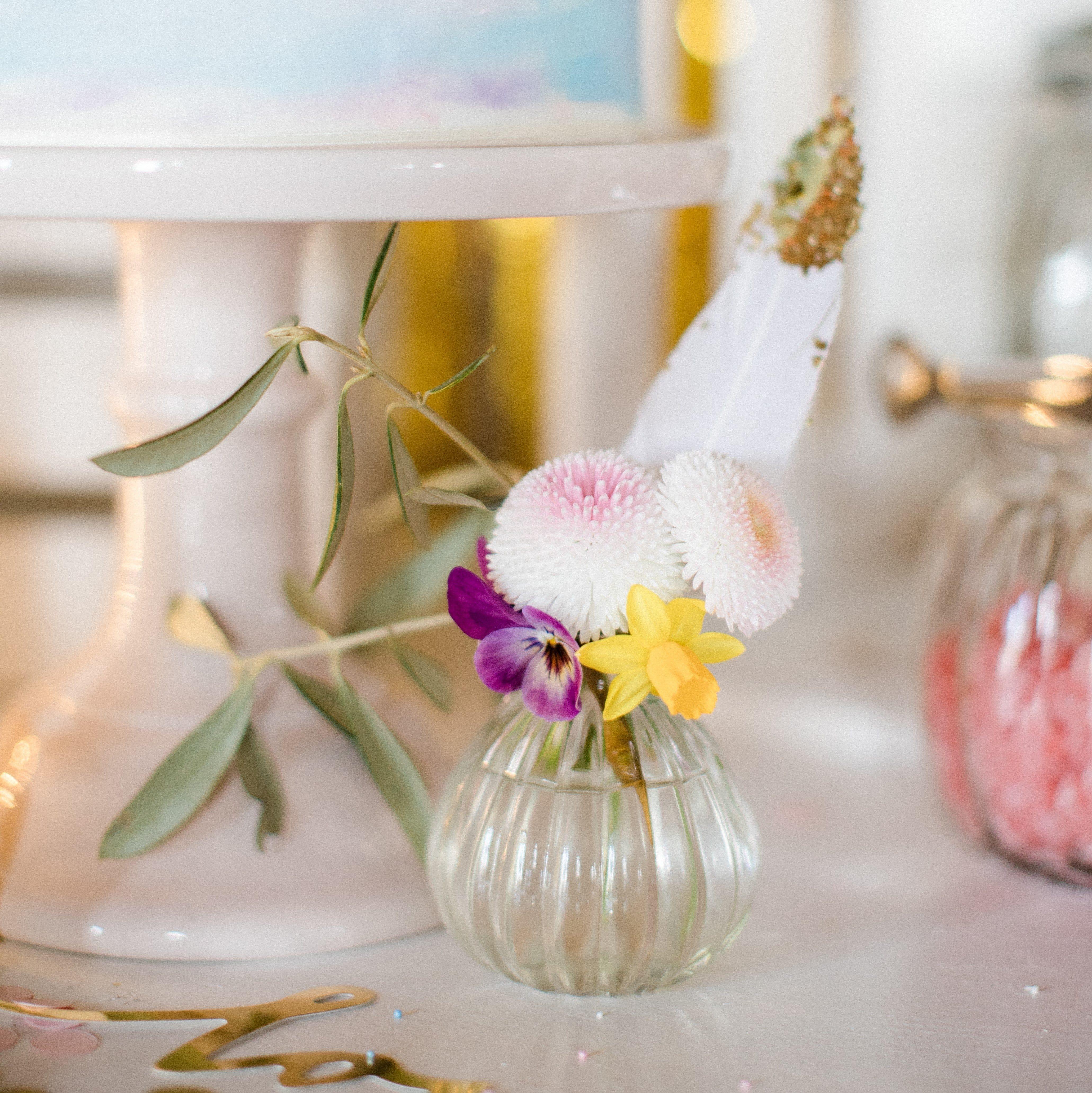 Mini Vasen Hochzeit - Set (2 Stück)