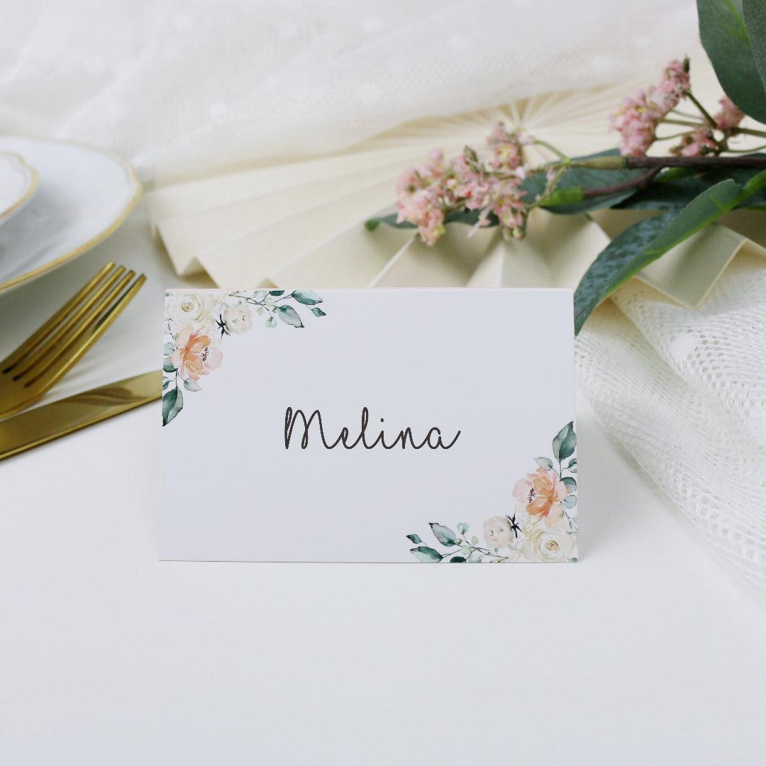 Namenskärtchen Blütenzauber (30 Stück)