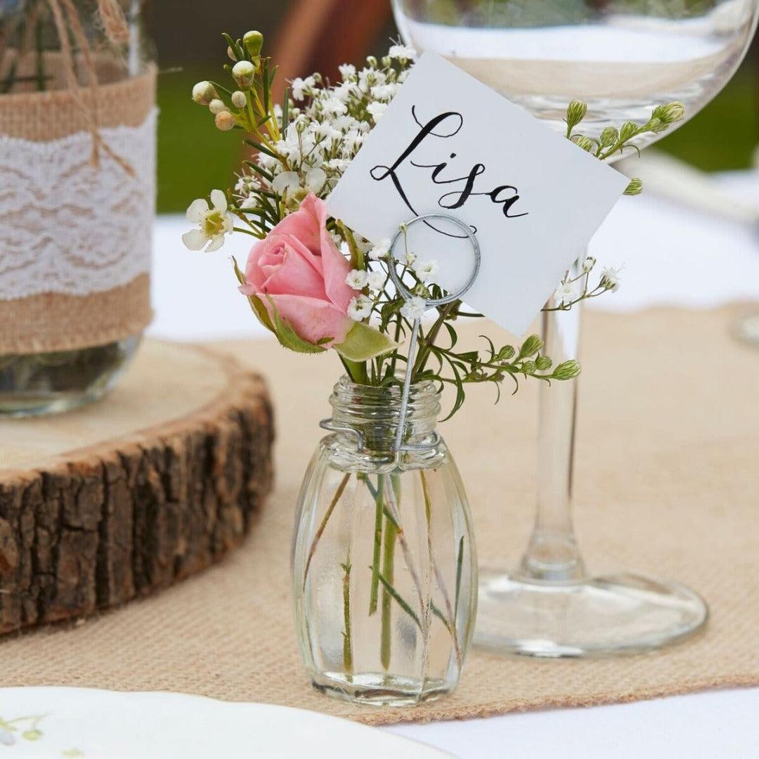 Namenskarte Mini Vasen (4 Stück)