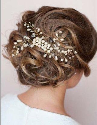 Musuntas Eleganter Luxus Retro Perlen Strass Hochzeit Brauthaarschmuck