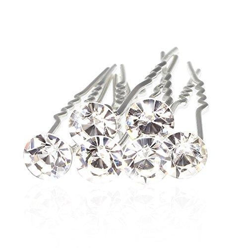 Haarnadeln mit Kristall Strass Stein zur Hochzeit, 12er Set