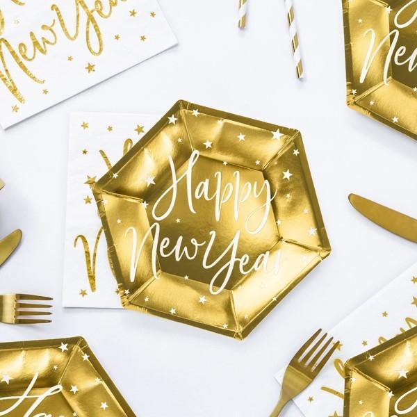 Pappteller Happy New Year