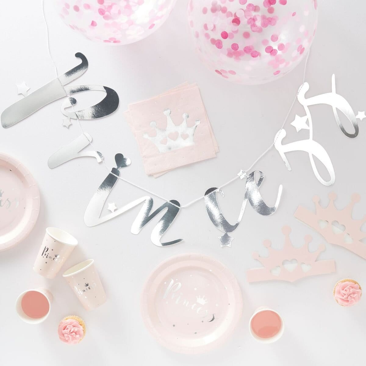 "Partybox ""Princess"" - silber /rosa (70 Teile)"