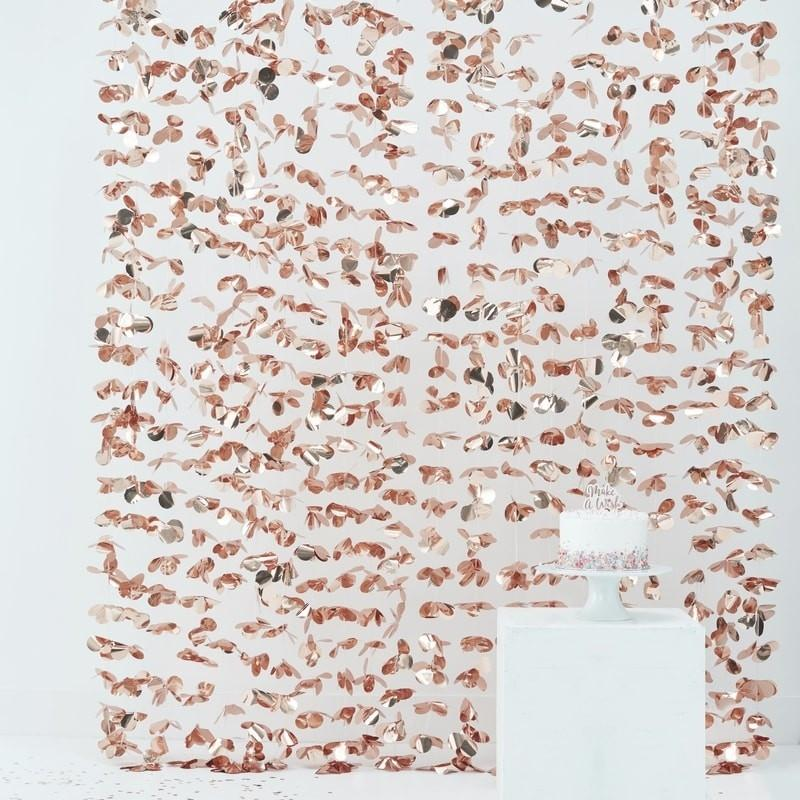 Photo Booth Vorhang rosegold