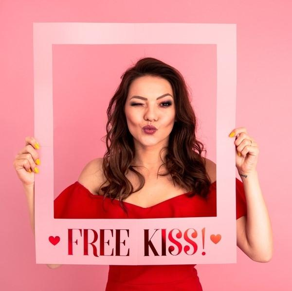 "Photobooth Poster ""Free Kiss"""