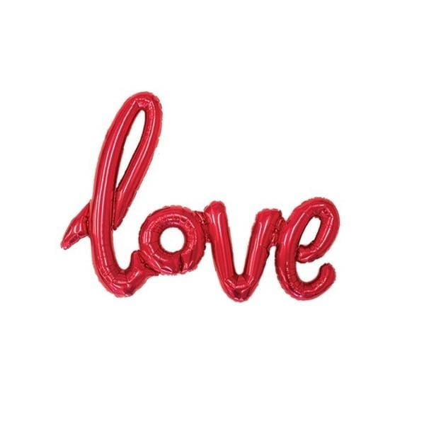 """Riesenfolienballon metallic """"love"""" - rot"""