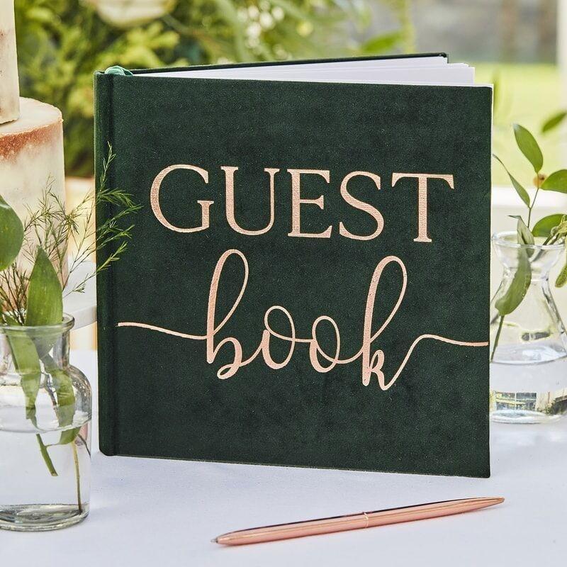 Samt Gästebuch Guestbok