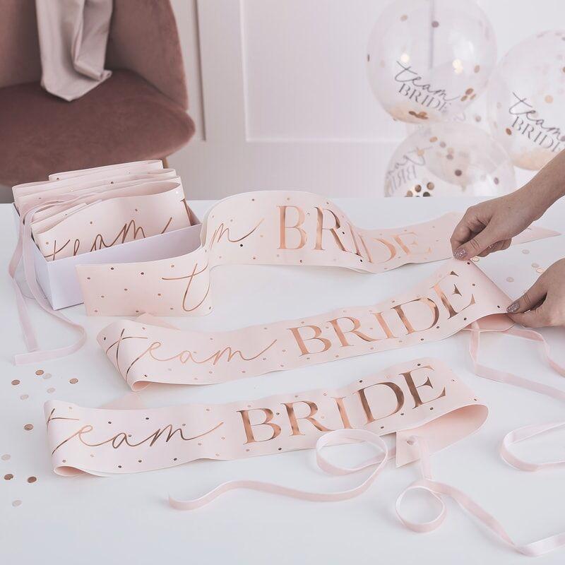 Schärpen Team Bride (6 Stück)
