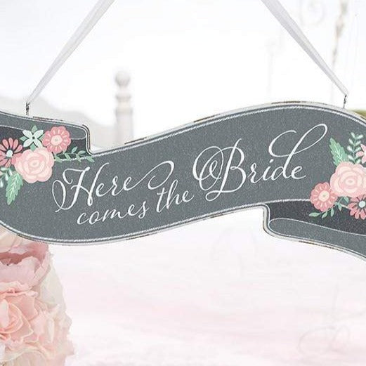 """Schild """"Here comes the Bride"""" & """"Just Married"""""""