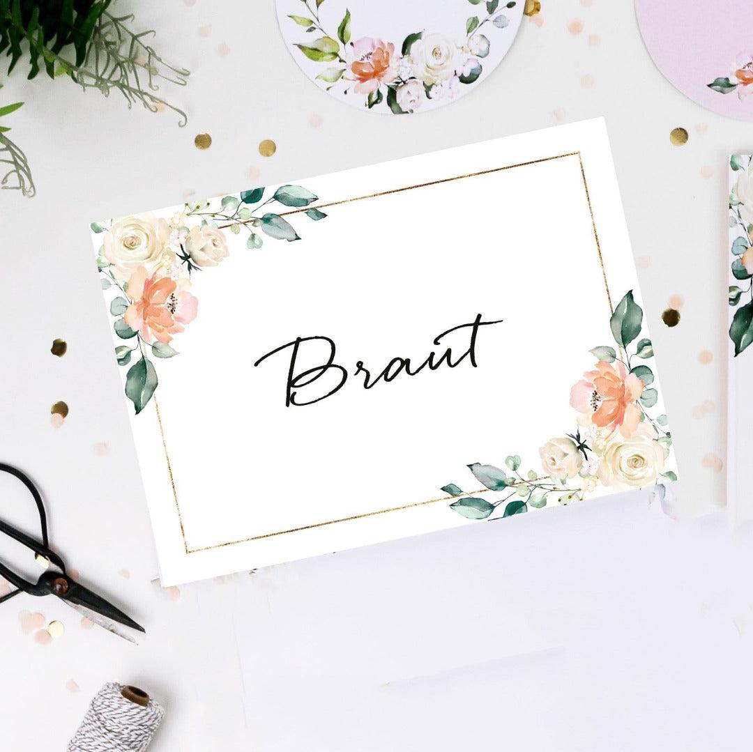 Schild Braut Blütenzauber