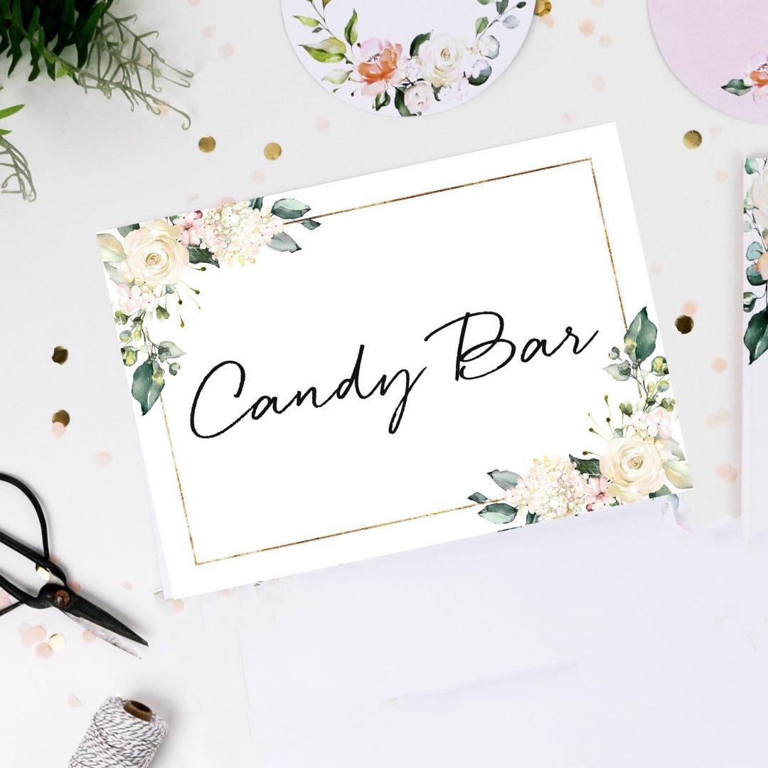 Schild Candy Bar Blütenzauber