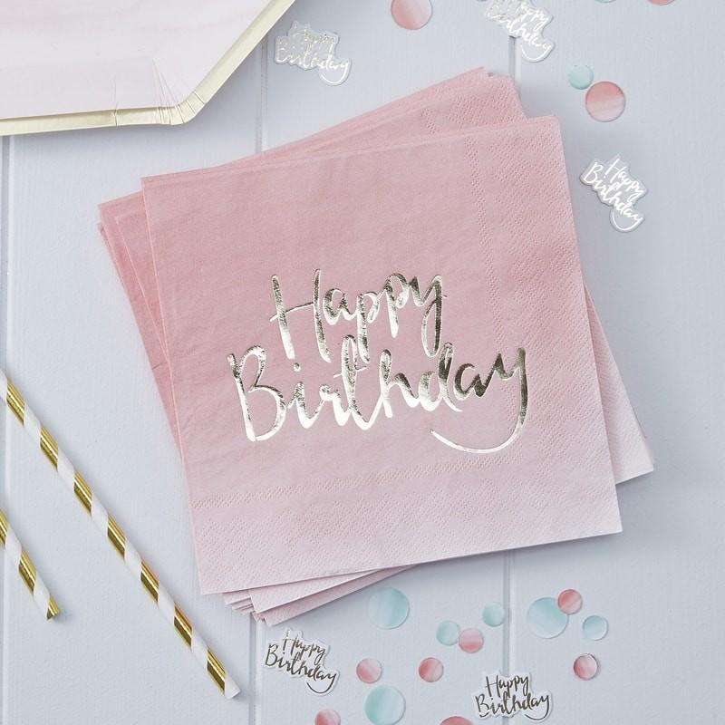 """Servietten """"Happy Birthday"""" (20 Stück)"""