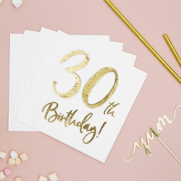 Servietten 30. Geburtstag
