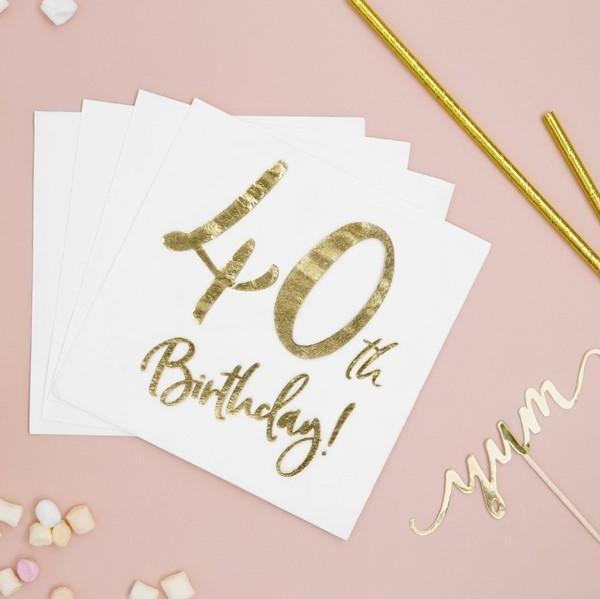 Servietten 40. Geburtstag