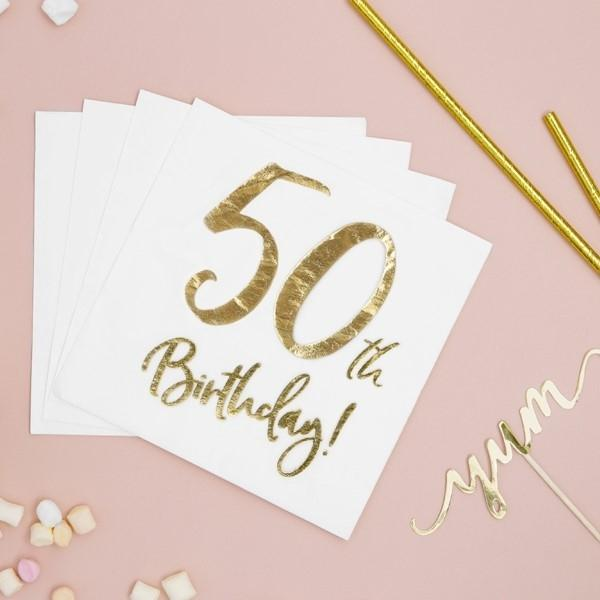 Servietten 50. Geburtstag
