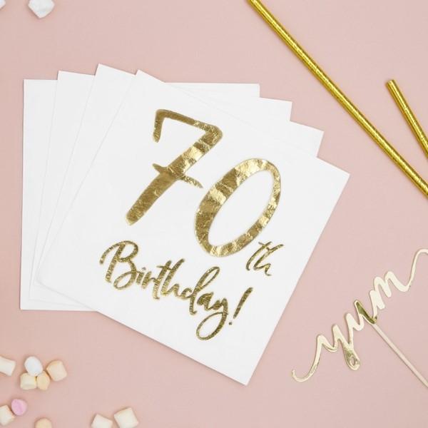 Servietten 70. Geburtstag