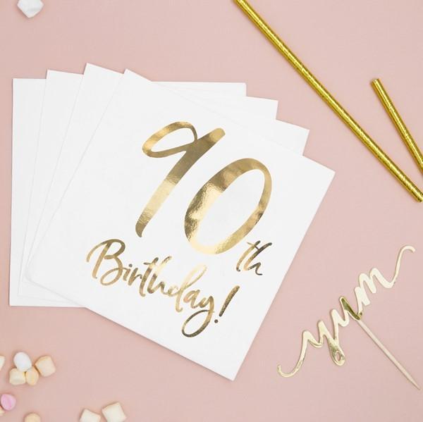 Servietten 90. Geburtstag