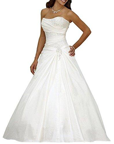 Erosebridal Weißes Satin Brautkleid