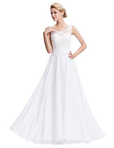 Bodenlanges ärmelloses Brautkleid