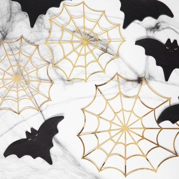 Spinnennetz Papierdeko Halloween (3 Stück)