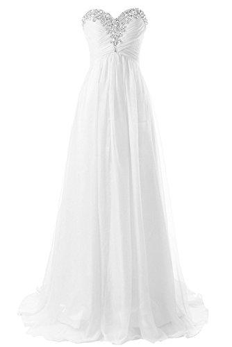 JAEDEN Trägerloses Hochzeitskleid aus Chiffon