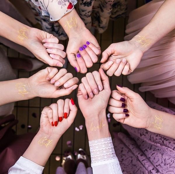 Tattoo Set Team Bride gold