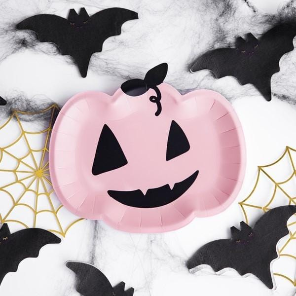 Teller Kürbis Halloween (6 Stück)