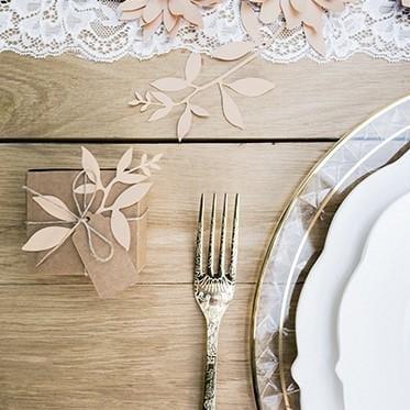 """Tisch Dekoration """"Zweige mit Blättern"""" - rosa"""