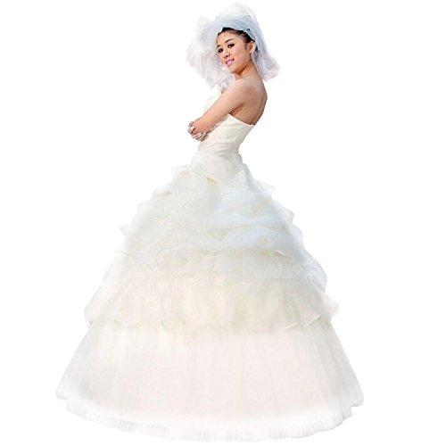 LATH.PIN Damen Chiffon Abschlussball Prinzessin Hochzeitskleider Abendkleider Brautkleider (asiatische XXL, Weisse) - 2
