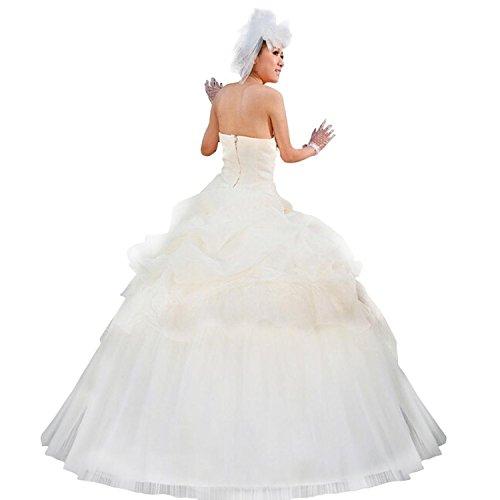 LATH.PIN Damen Chiffon Abschlussball Prinzessin Hochzeitskleider Abendkleider Brautkleider (asiatische XXL, Weisse) - 3