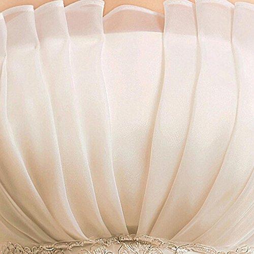 LATH.PIN Damen Chiffon Abschlussball Prinzessin Hochzeitskleider Abendkleider Brautkleider (asiatische XXL, Weisse) - 5