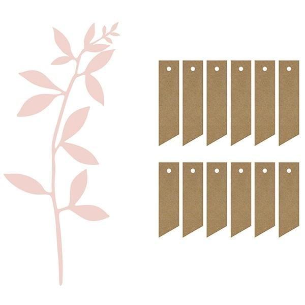 """Tisch Dekoration """"Zweige"""" inkl. Anhänger - rosa"""