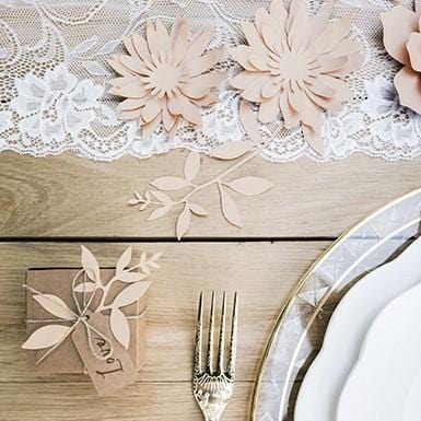 """Tisch Dekoration DIY Set """"Seerose"""" - rosa (3 Stück)"""