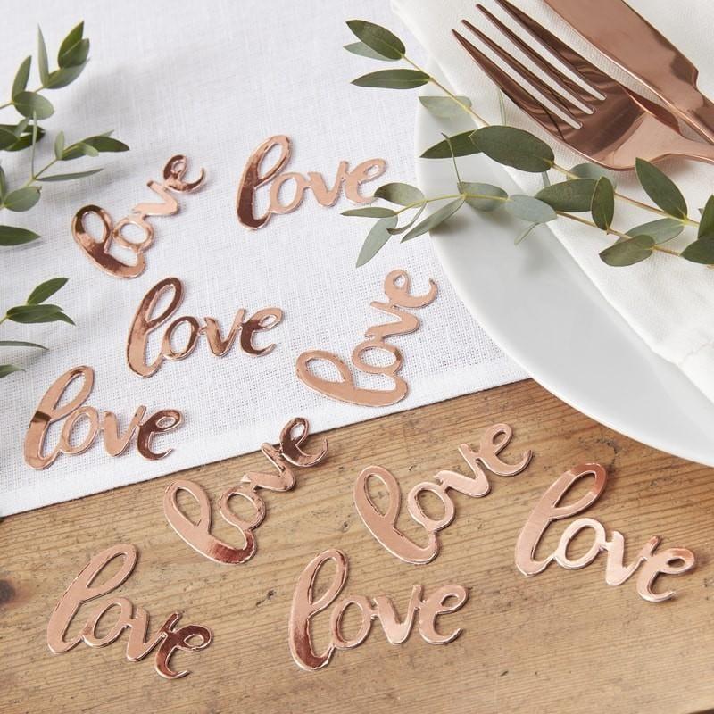 """Tisch Konfetti """"Love"""" rosegold"""