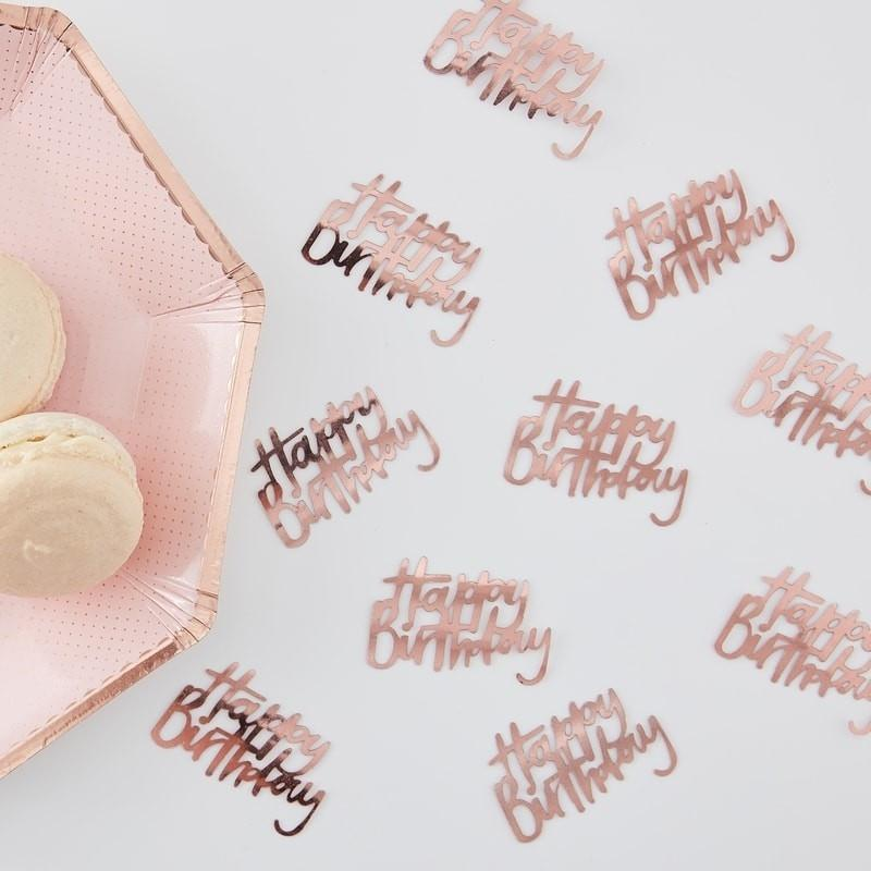 Tisch Konfetti Happy Birthday