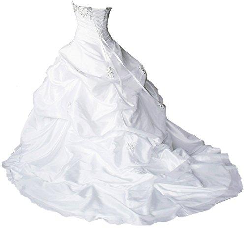 Faironly M045 Liebsten Taft Hochzeitskleid Brautkleider (XXL, Elfenbein) - 2