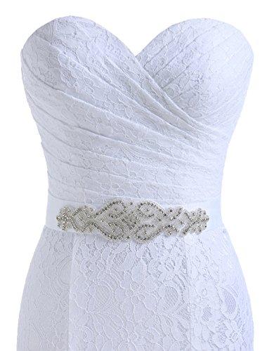 Beautyprom Frauen-Spitze-Nixe-Brautkleider (42, Weiß) - 3