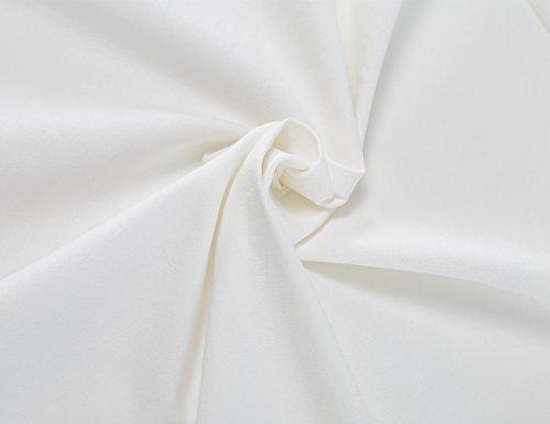 MUXXN Damen Retro 1950er V-Ausschnitt Brautjungfer Party Swing Kleid(2XL, White) - 5
