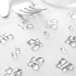 Tischkristalle / Glitzernde Schmetterlinge (100 Stück)