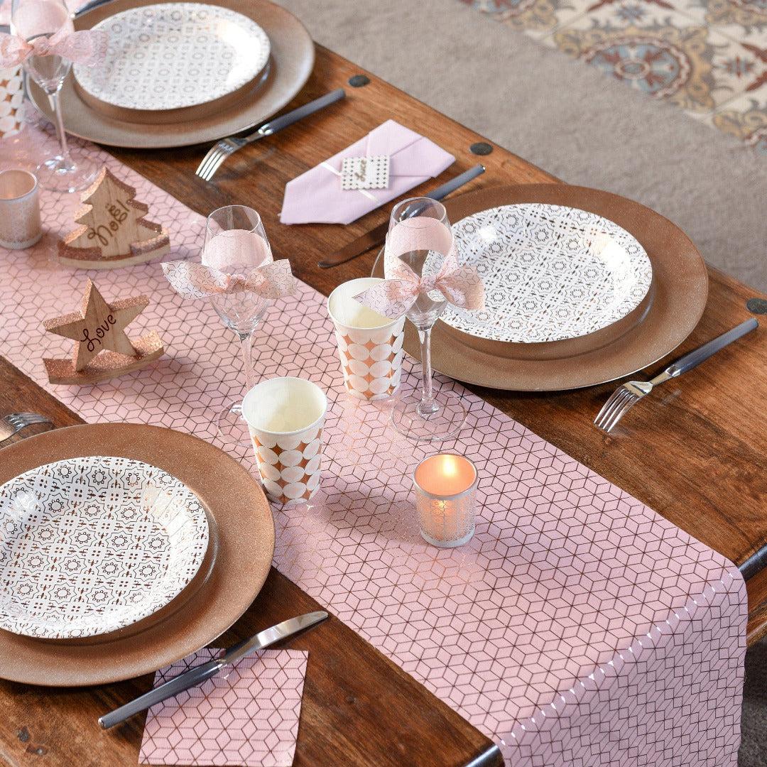 Tischläufer romantisch - rosegold