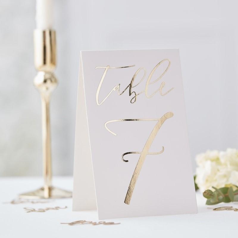 Tischnummer elegant 1-12
