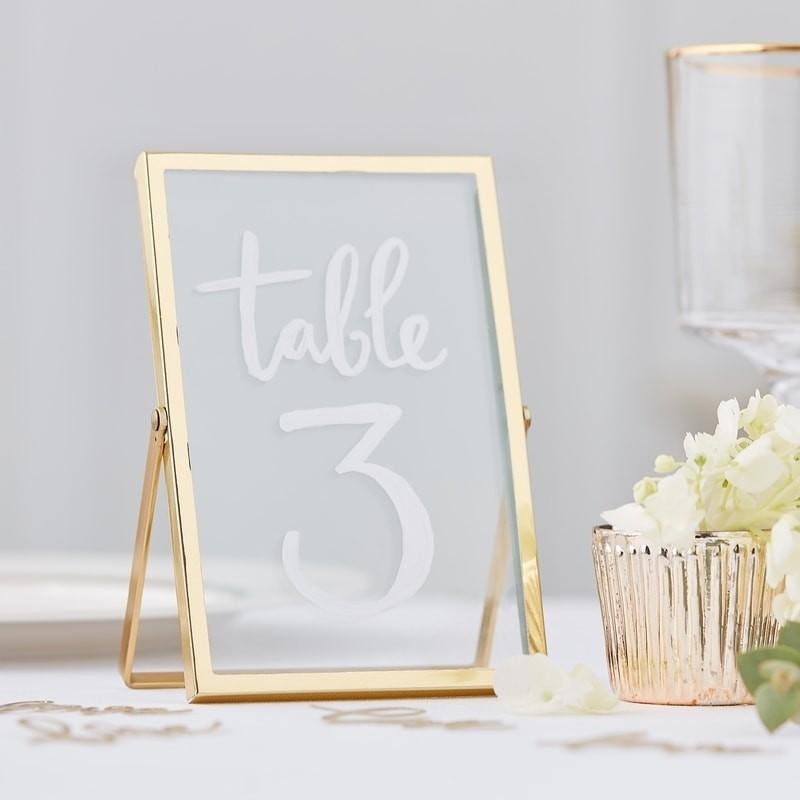 Tischnummer Foto Rahmen
