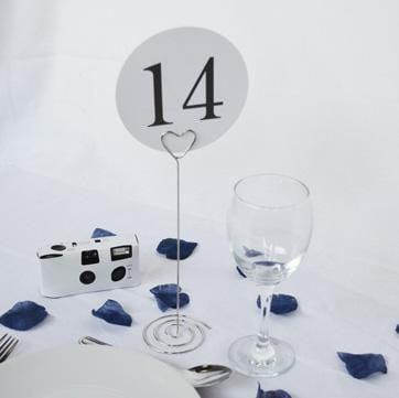 """Tischnummer Halter """"Herz"""" - silber"""