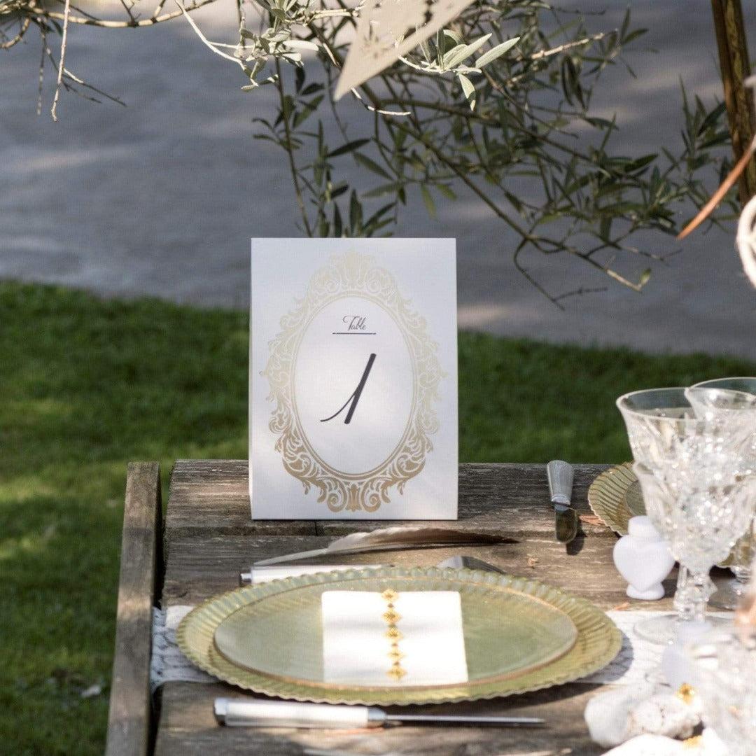 """Tischnummern """"Hochzeitsgäste"""" (1 - 10) - gold"""