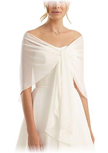Chiffon Stola Chiffonschal perfekt zu jedem Brautkleid One size