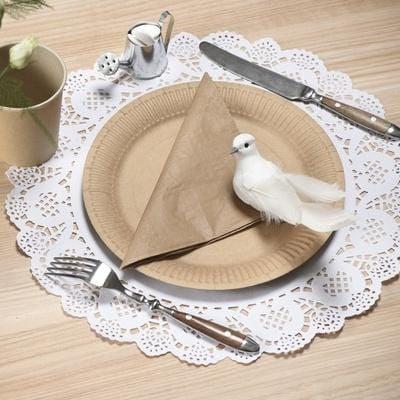 """Tischset """"Spitze"""" (10 Stück) - weiß"""