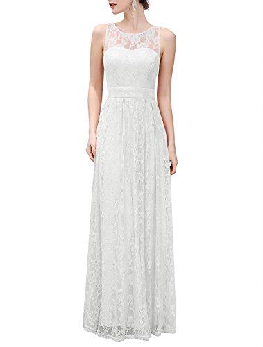 Wedtrend langes Brautkleid WTL10007 Ivory L