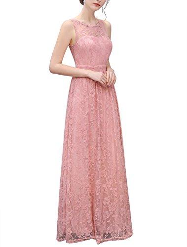 Wedtrend Frauen Spitzen lange Brautjungfer Kleid Party Kleid Cocktailkleid WTL10007 Ivory L - 2