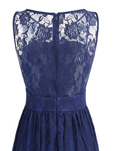 Wedtrend Frauen Spitzen lange Brautjungfer Kleid Party Kleid Cocktailkleid WTL10007 Ivory L - 5