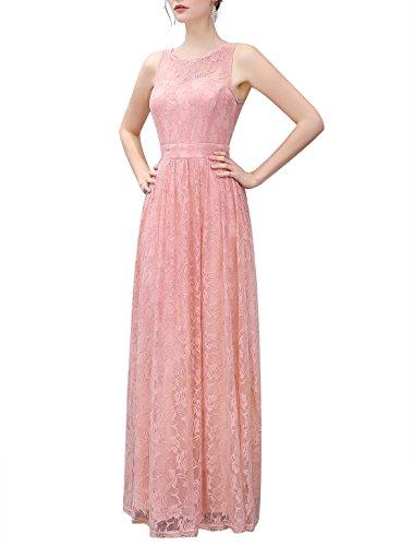 Wedtrend Frauen Spitzen lange Brautjungfer Kleid Party Kleid Cocktailkleid WTL10007 Ivory L - 7